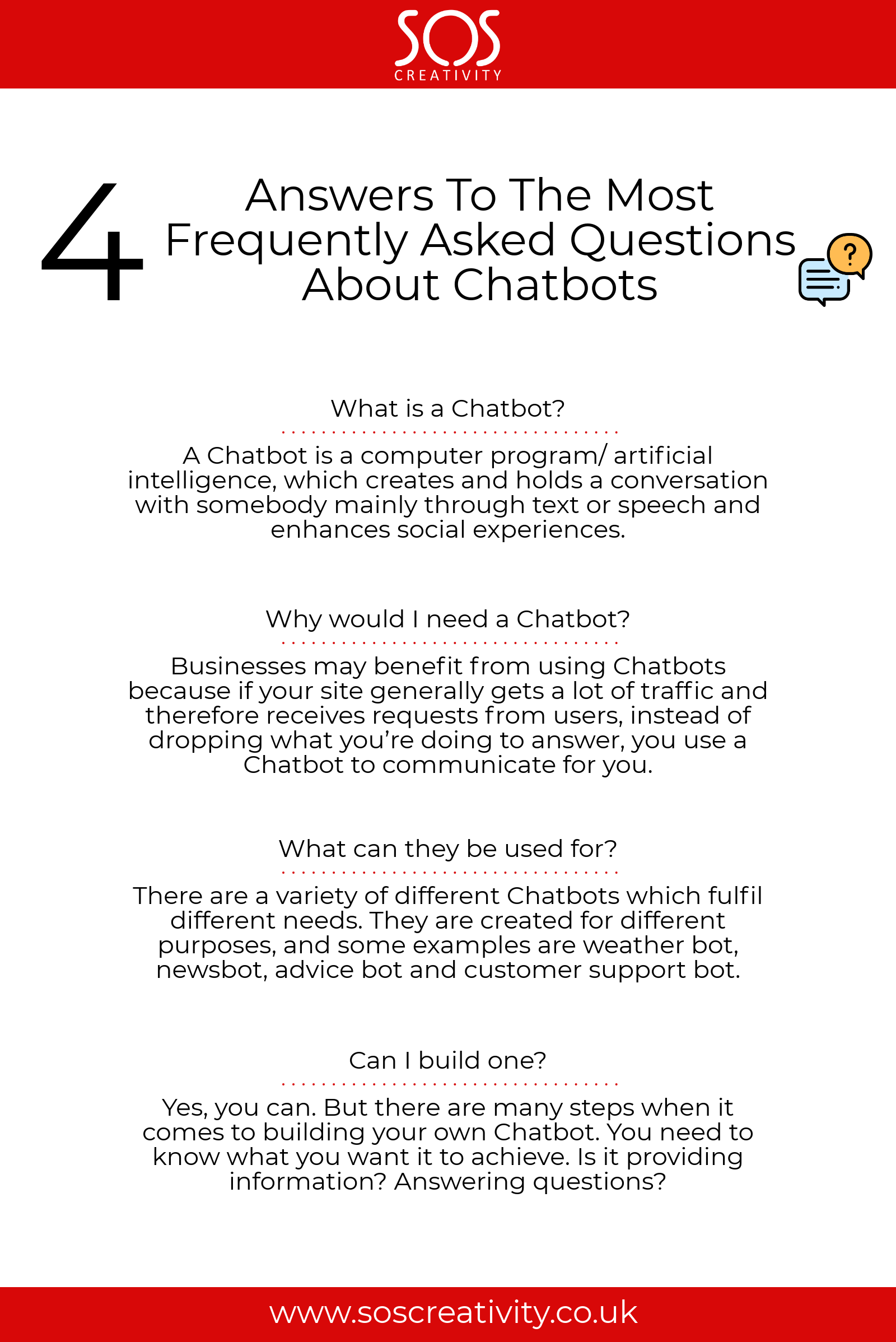 4 answers to the most faw about chatbots