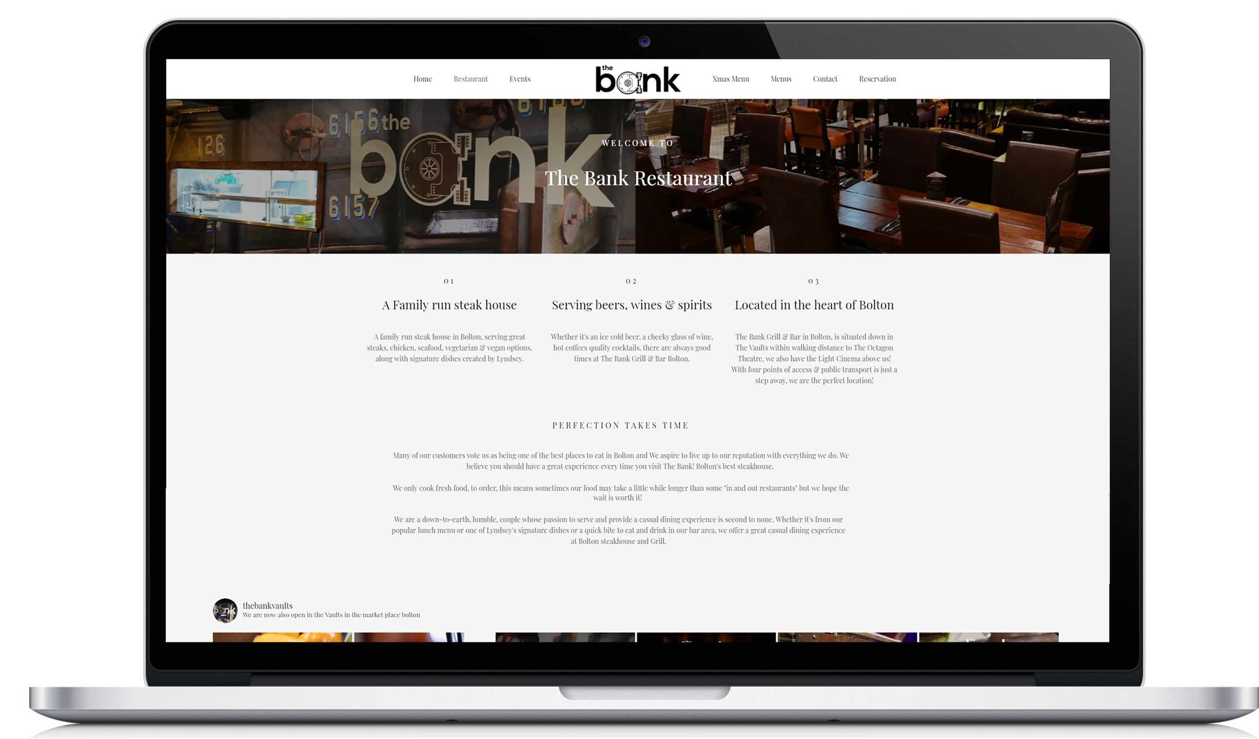Strak Design Bank.The Bank Restaurant Sos Creativity Web Design Bolton 44 0 161 327