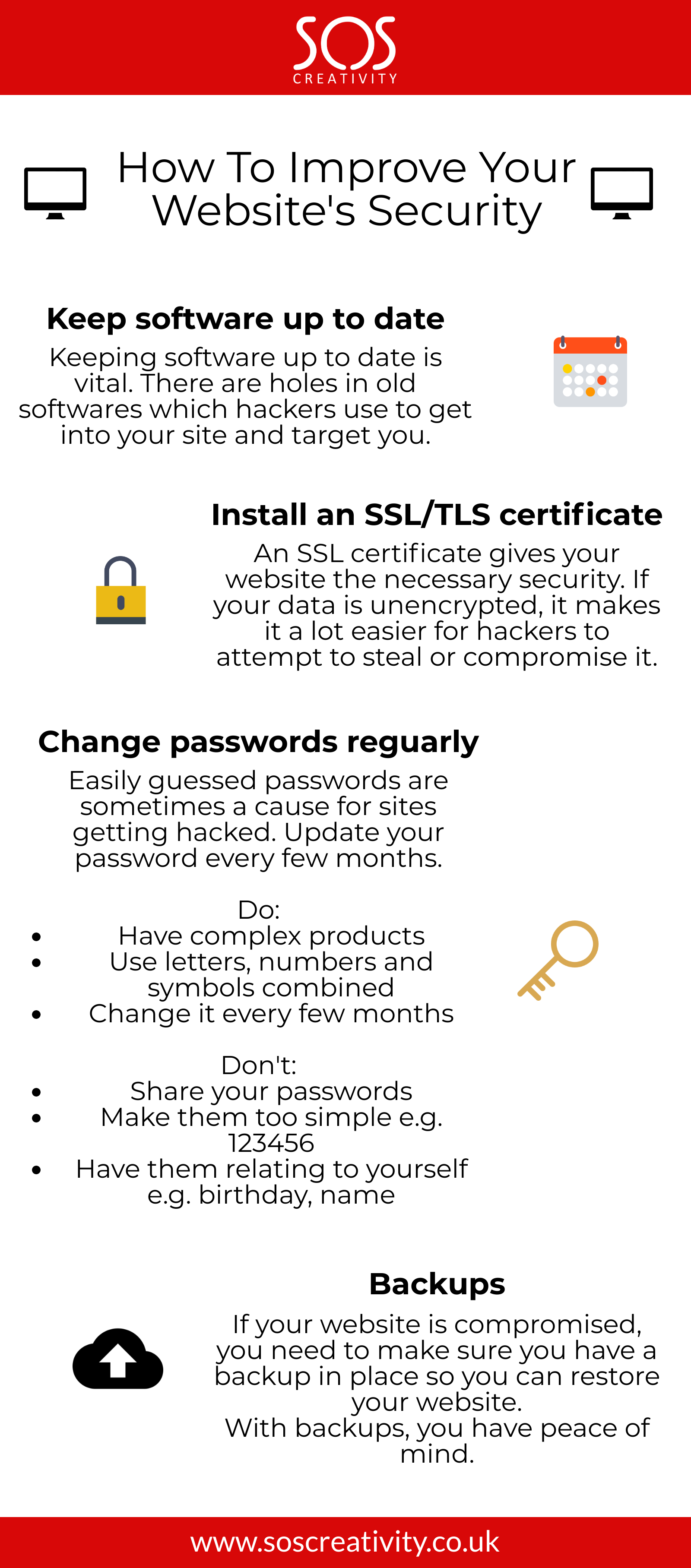 How To Improve Your Website's Security - SOS Creativity Web